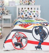 OFFICIAL MARVEL AVENGERS STRONG SINGLE DUVET COVER SET BOYS HULK IRON MAN
