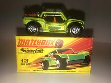 Matchbox Superfast Baja Buggy #13 In Mint Condition With Original H Box