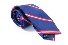 BAR III 3 STRIPED NAVY BLUE RED 2.5 INCH WIDTH NECK TIE MENS NWT NEW