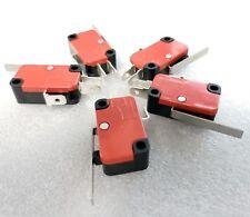 5x Long Arm Micro Switch Microswitch 15A AC 250V RepRap 3D Printer