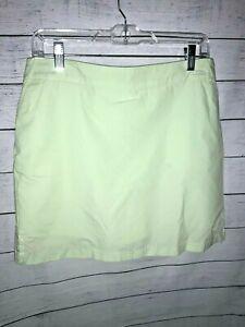 Lady Hagen Golf Tennis Skort Skirt Mint Green w/ White Dots Pockets Zip Slit 10
