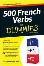 500 French Verbs For Dummies-ExLibrary