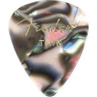 Fender 351 Premium Celluloid Guitar Picks - THIN ABALONE - 12-Pack (1 Dozen)
