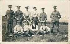 WW1 Postcard 5th Lancashire  Artillery Volunteers Gunners NCO's Summer Camp 1913