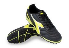 Diadora Men's Capitano TF Turf Soccer Shoes (Black / Neon Yellow)