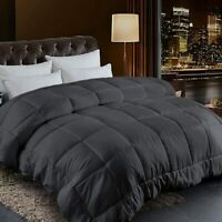 Goose Down Alternative Reversible Comforter-Ultra Soft-All Season-Hypoallergenic