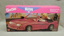 Vintage Barbie 1996 Ford Mustang Toy Convertible Car Pink Mattel #65032