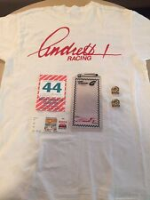 1994 Andretti Racing Lot - Michael Andretti Autographed Tee - Pit Pass & Pins