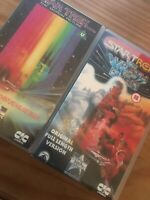STAR TREK THE MOTION PICTURE and STAR TREK II THE WRATH OF KHAN - CIC VHS VIDEOs