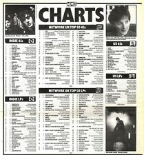 16/11/91 Pgn56 The Nme Charts On16/11/91 The Uk Top Fifty Singles And Albums