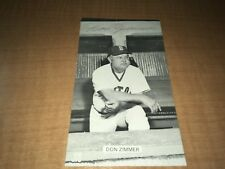 Don Zimmer Boston Red Sox Signed 1970's JD McCarthy Postcard W/Our COA