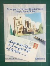 Birmingham Leicester Peterborough Anglia Route Guide 1990