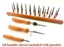 Sakakeeny Bassoon Drying Rack-2 FREE Handles-22  HEX based REMOVABLE Pins-CHERRY