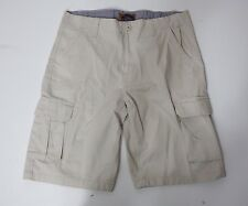 Men Shorts Unbranded Casual Flat Front Cargo Beige Zipper and Button fastening