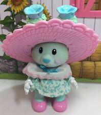 Vintage Tea Bunnies Bunny Me Tea Party Pansy Parfait Blue Rabbit Dress Hat