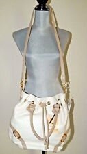NWT $248 EMMA FOX Leather JUNO Satchel Shoulder Handbag White NEW
