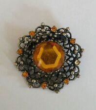 Diamante without Theme Vintage Costume Brooches/Pins