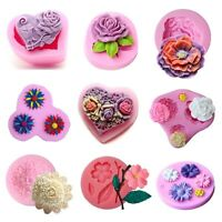 Flower Rose Silicone Fondant Mold Cake Decor Chocolate Sugarcraft Baking Mould