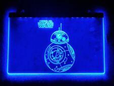 STAR WARS BB8 BB-8 NEON 3D LED LAMP LAMPE LIGHT SIGN BORD PLAAT VERLICHTING