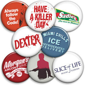 Dexter - Button Badge - 25mm 1 inch - TV Series -  Humour / Parody Style