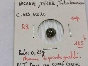 superbe tétartemorion ARCADIE Tégée ,423-400 A-C !