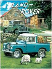 Land Rover, Off Road 4x4 Pickup Classic/Vintage Car Large Metal/Tin Sign Picture