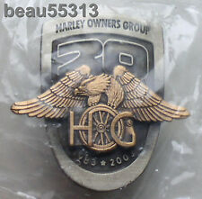 """OFFICIAL"" HARLEY DAVIDSON HOG 2003 100th 20th ANNIVERSARY GOLDEN EAGLE PIN"