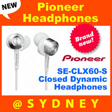 NEW Pioneer SE-CLX60-S Closed Dynamic Headphones Earphones iPhone Samsung MP3