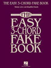 The Easy 3-Chord Fake Book Sheet Music Melody Lyrics & Simplified Chor 000240388