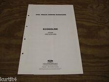 1992 Ford Econoline Van E150 E250 wiring diagram schematic SHEET service manual