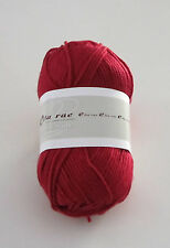 LOT of 10 balls of RED Ella Rae MILKY SOFT cotton knitting yarn color #12