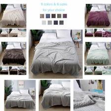 UK SUPER SOFT FLANNEL VELVET THROWS LARGE SOFA BED BLANKET LUXURY KING SIZE