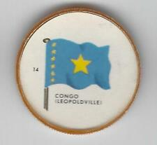 1963 General Mills Flags of the World Premium Coins #14 Congo (Leopoldville)