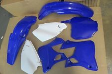 POLISPORT BLUE PLASTIC KIT YAMAHA YZ250 YZ125 2000 2001 # PLTS  SCOOPS  FENDERS