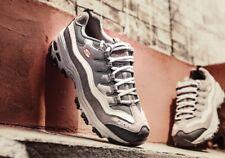 New Skechers D'Lites Sport Energy Grey Womens Kids Sneakers Shoes Trainers UK 2