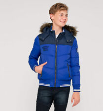 C&A Palomino Boys Quilted Down Padded Jacket  Fur Hood Size 92 Age 2 Box15 12 d