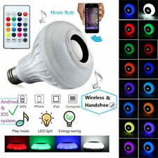 Bulb Speaker Bluetooth LED Light Music RGB Color Wireless E27 Remote 12W Lamp