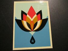 "SHEPARD FAIREY Obey Giant Sticker 3.75/"" color PEACE DOVE from poster print"