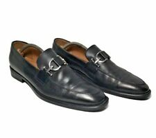 Donald J Pliner Bryc 6 Black Slip-On Loafer Horse Bit Men's Size 8.5 Italy $230