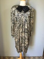 Vintage Hanae Mori Boutique Silk Dress, size 8