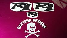 R1 CARBON FIBRE SET NOSE & CONE SEAT UNIT DECALS STICKERS