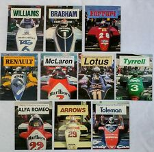 Kimberley F1 GP Team Guides Lot of 10 1982 Williams Ferrari McLaren Lotus Tyrell
