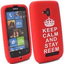 Étuis, housses et coques rouge en silicone, caoutchouc, gel pour téléphone mobile et assistant personnel (PDA) Nokia