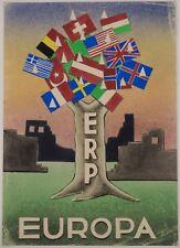 MARSHALLPLAN, ERP 1948, ORIGINAL PLAKAT ENTWURF GOUACHE, MUSEAL, FÜR HISTORIKER!