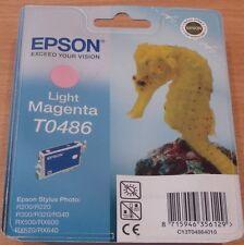 GENUINE EPSON T0486 TO486 Light Magenta cartridge vac seal ORIGINAL SEAHORSE ink