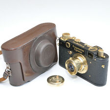 FED COPY Leica Camera avec objectif Carl Zeiss russe Black Gold Marine de Guerre