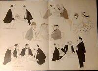"""Sem Grande Lithographie Original  """"A l'hotel de Paris"""" 71,5 x 52"""