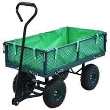 vidaXL Garden Hand Trolley Green 250kg Rust Free Hand Truck Transport Cart