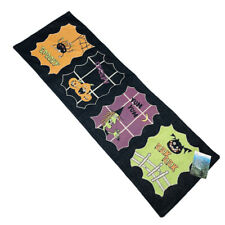 """Spooky Smiles Spider Pumpkins Witch Bat 36"""" Halloween Tapestry Table Runner"""