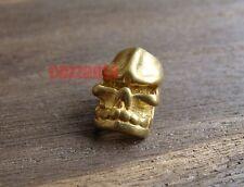 2pcs Skull pure brass 4.5mm hole Lanyard Bead Parachute Cord Paracord Knife Tool